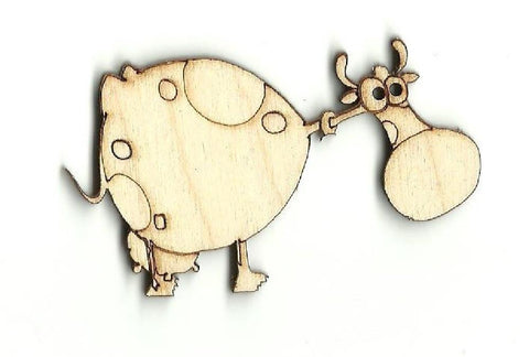 Cartoon Cow - Laser Cut Wood Shape Cow1 Craft Supply