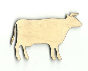 Cow - Laser Cut Wood Shape Cow17 Craft Supply