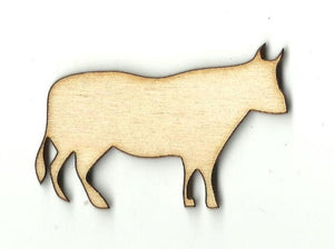 Cow - Laser Cut Wood Shape Cow15 Craft Supply