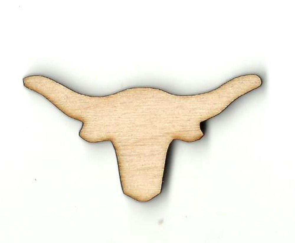 Bull Steer - Laser Cut Wood Shape Cow20 Craft Supply