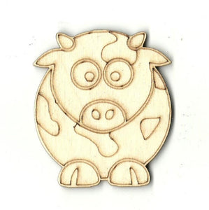 Cow - Laser Cut Wood Shape Cow5 Craft Supply