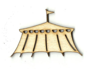 Circus Tent - Laser Cut Wood Shape Crc3 Craft Supply