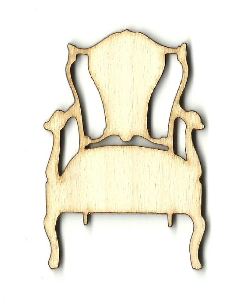 Chair - Laser Cut Wood Shape Dcr34 Craft Supply