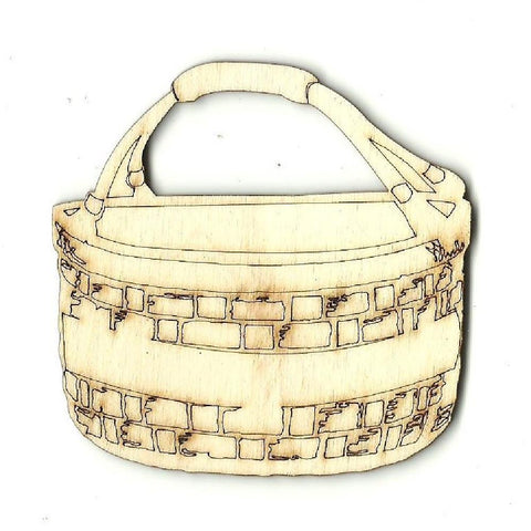 Basket - Laser Cut Wood Shape DCR11