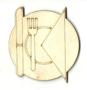 Table Setting - Laser Cut Wood Shape Dcr43 Craft Supply