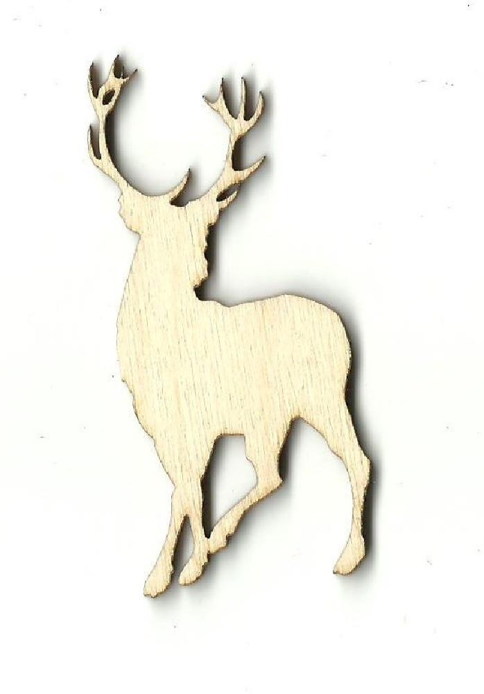 Deer - Laser Cut Wood Shape Der10 Craft Supply