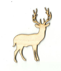 Deer - Laser Cut Wood Shape Der30 Craft Supply