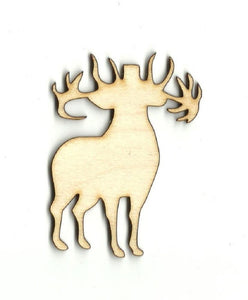 Deer - Laser Cut Wood Shape Der27 Craft Supply