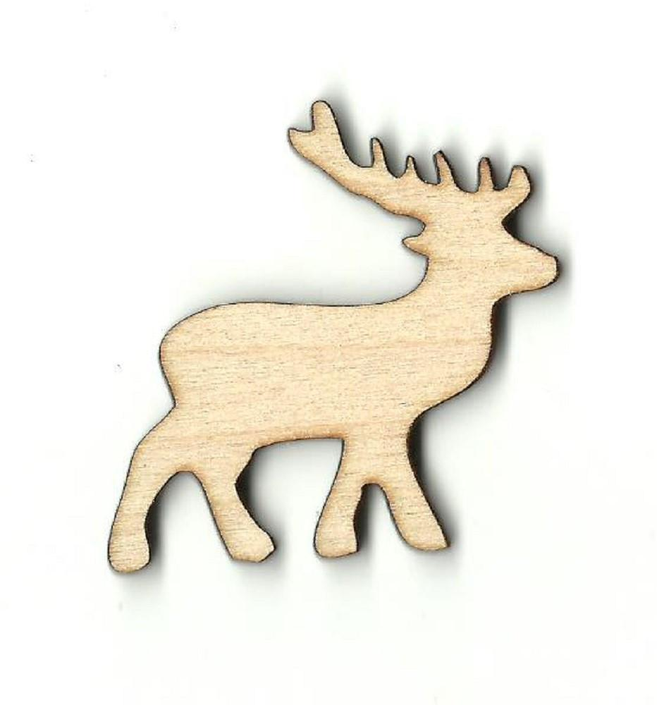 Deer - Laser Cut Wood Shape Der35 Craft Supply