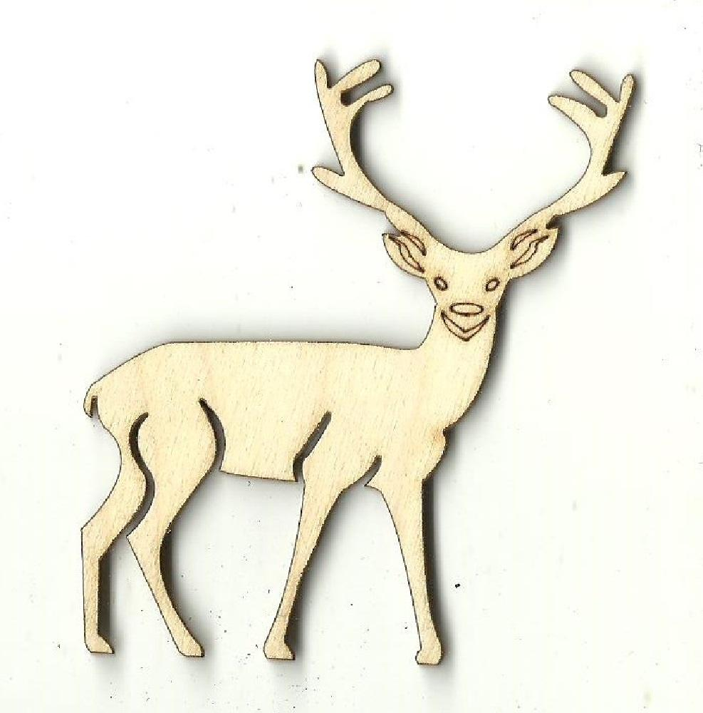 Deer - Laser Cut Wood Shape Der67 Craft Supply