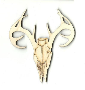 Deer Skull - Laser Cut Wood Shape Der18 Craft Supply