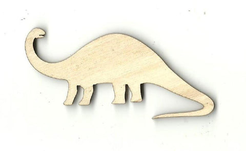 Brontosaurus Dinosaur - Laser Cut Wood Shape Din10 Craft Supply