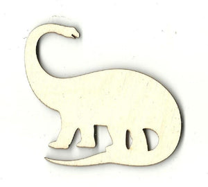 Brontosaurus Dinosaur - Laser Cut Wood Shape Din12 Craft Supply