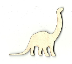 Brontosaurus Dinosaur - Laser Cut Wood Shape Din13 Craft Supply