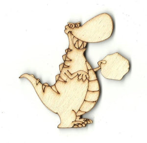 Tyrannosaurus Rex Dinosaur - Laser Cut Wood Shape Din20 Craft Supply