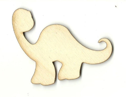Brontosaurus Dinosaur - Laser Cut Wood Shape Din28 Craft Supply