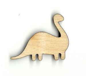 Brontosaurus Dinosaur - Laser Cut Wood Shape Din27 Craft Supply