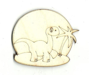 Brontosaurus Dinosaur - Laser Cut Wood Shape Din3 Craft Supply