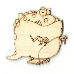 Dinosaur - Laser Cut Wood Shape Din5 Craft Supply