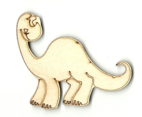 Brontosaurus Dinosaur - Laser Cut Wood Shape Din6 Craft Supply