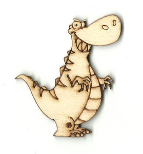 Tyrannosaurus Rex Dinosaur - Laser Cut Wood Shape Din7 Craft Supply
