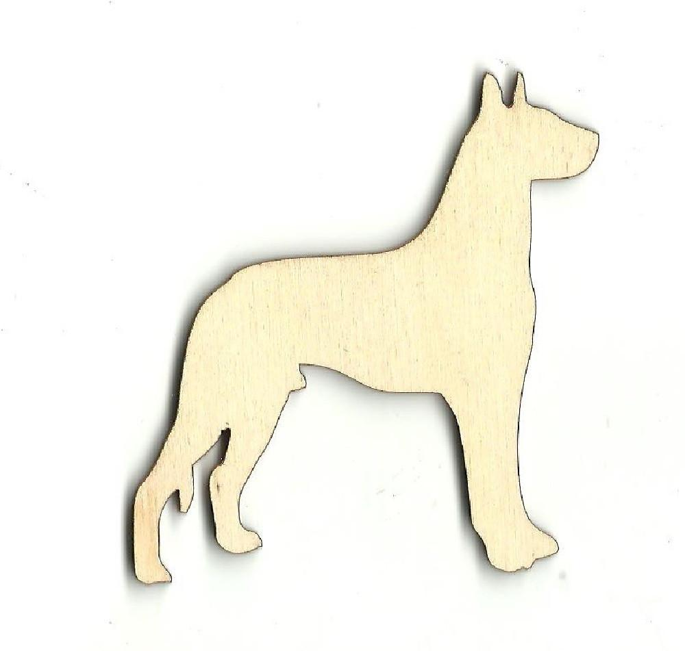 Dog - Laser Cut Wood Shape Dog15 Craft Supply