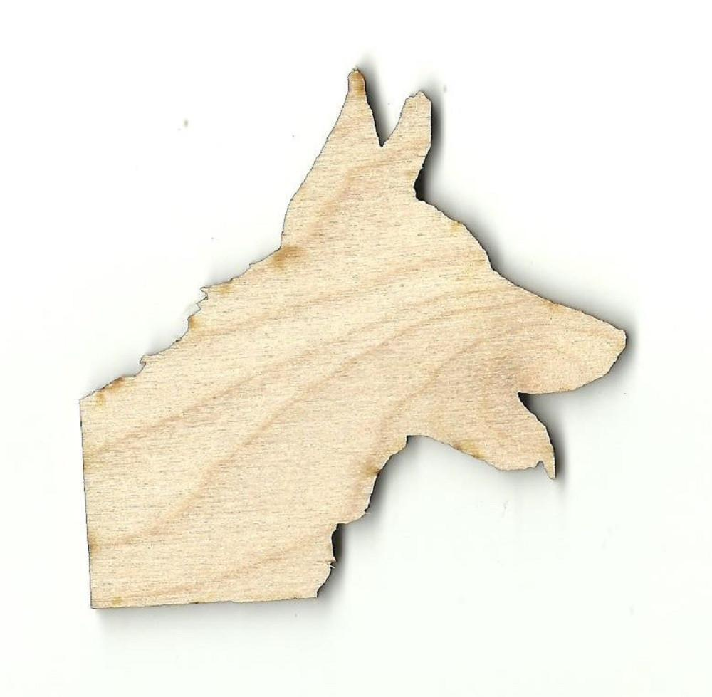 German Shepherd Dog - Laser Cut Wood Shape Dog16 Craft Supply