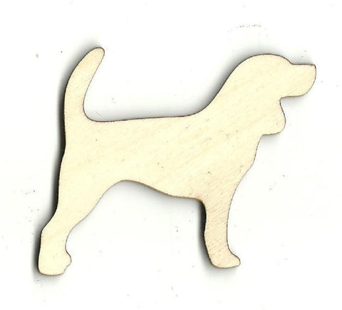 Beagle Dog - Laser Cut Wood Shape Dog19 Craft Supply