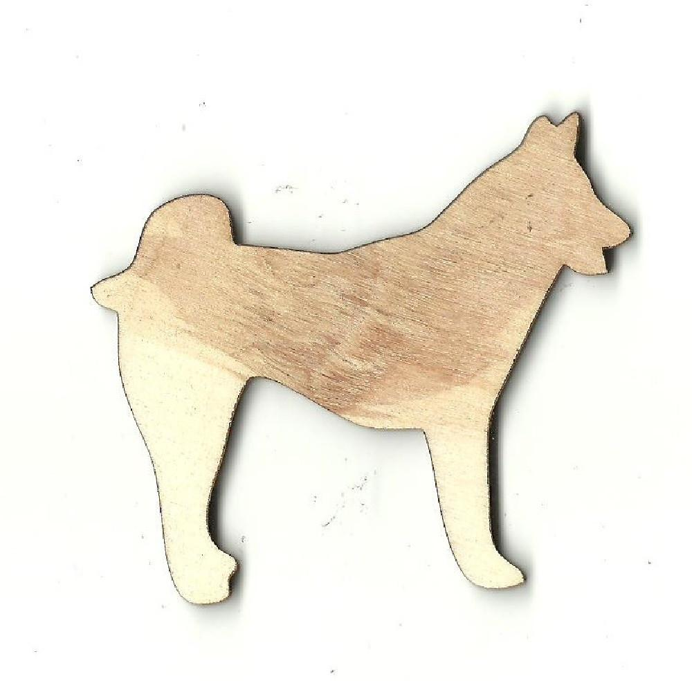 Samoyed Husky Dog - Laser Cut Wood Shape Dog21 Craft Supply
