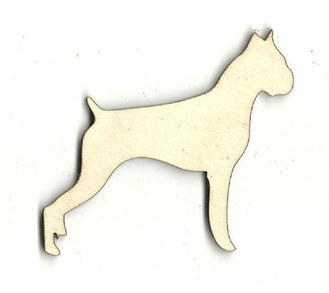 Boxer Dog - Laser Cut Wood Shape Dog22 Craft Supply