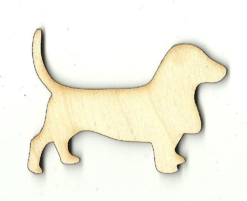Basset Hound Dog - Laser Cut Wood Shape Dog23 Craft Supply