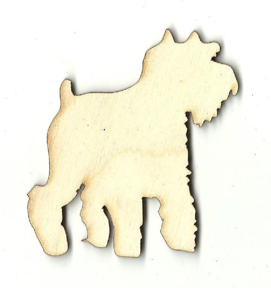 Scottie Dog - Laser Cut Wood Shape Dog26 Craft Supply