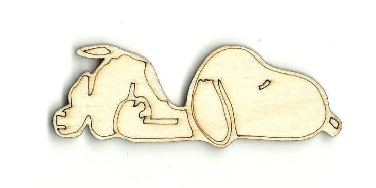 Dog - Laser Cut Wood Shape Dog4 Craft Supply