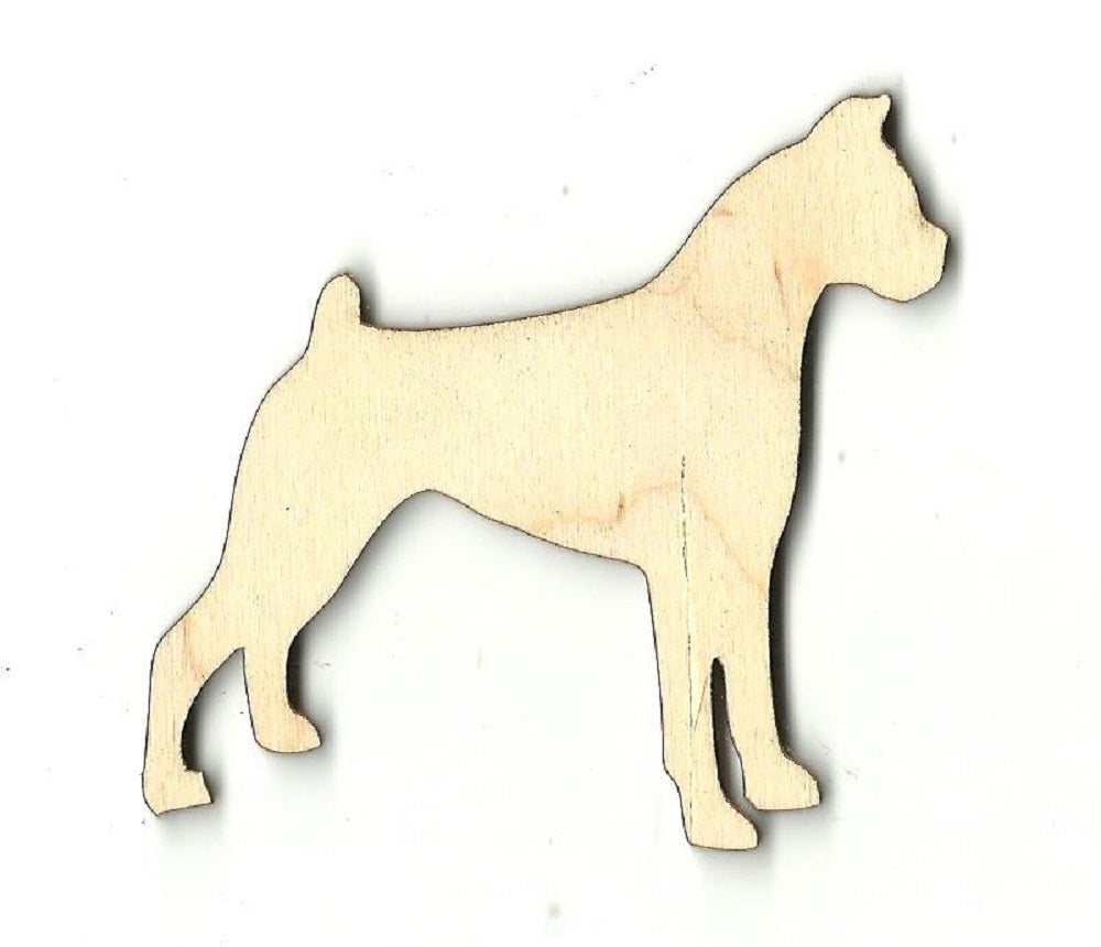Boxer Dog - Laser Cut Wood Shape DOG9