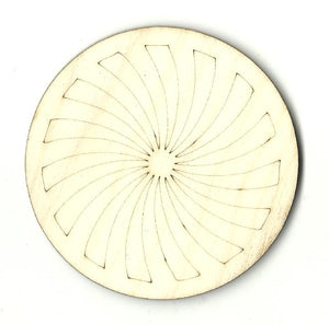 Circle Design - Laser Cut Wood Shape DSN128