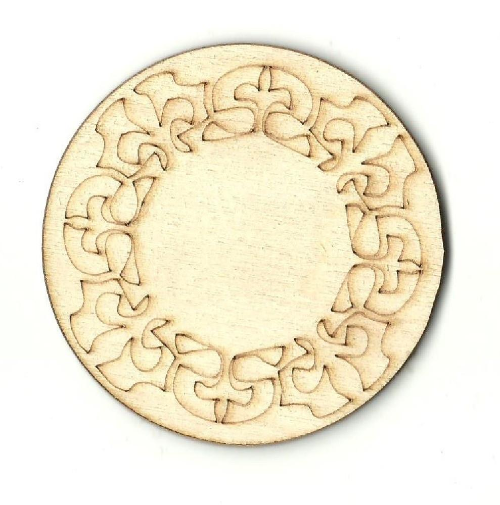 Circle Design - Laser Cut Wood Shape Dsn14 Craft Supply