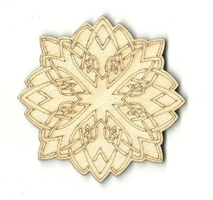 Circle Design Laser Cut Wood Shape DSN19