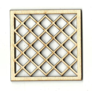 Criss Cross Design - Laser Cut Wood Shape Dsn17 Craft Supply
