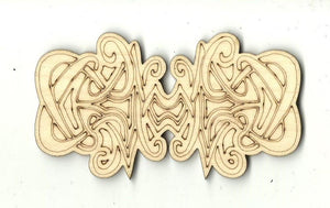 Celtic Design - Laser Cut Wood Shape Dsn50 Craft Supply