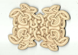Celtic Design - Laser Cut Wood Shape Dsn54 Craft Supply
