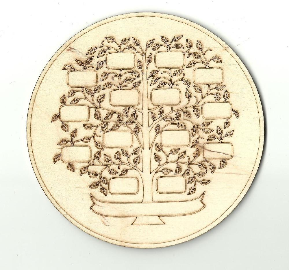 Family Tree Design - Laser Cut Wood Shape Dsn5 Craft Supply