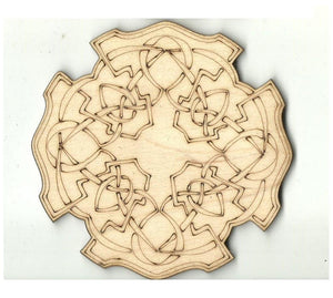 Celtic Design - Laser Cut Wood Shape Dsn60 Craft Supply