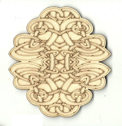 Celtic Design - Laser Cut Wood Shape Dsn61 Craft Supply