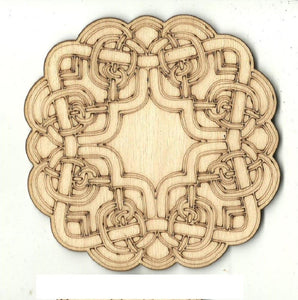 Celtic Design - Laser Cut Wood Shape Dsn62 Craft Supply