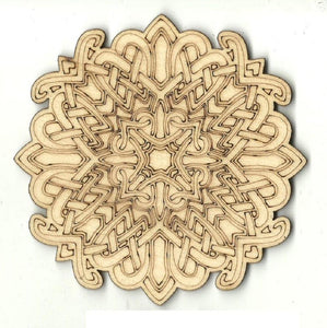 Celtic Design - Laser Cut Wood Shape Dsn63 Craft Supply