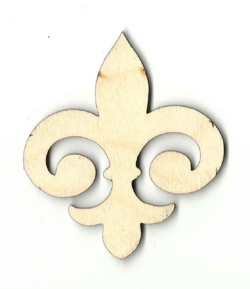 Fleur De Lis - Laser Cut Wood Shape Dsn37 Craft Supply
