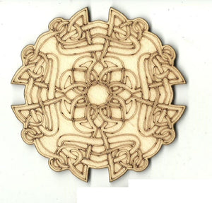 Celtic Design - Laser Cut Wood Shape Dsn65 Craft Supply