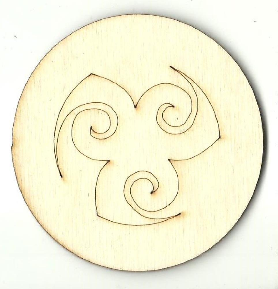 Circle Design - Laser Cut Wood Shape Dsn71 Craft Supply