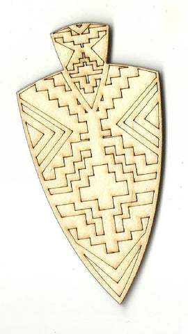 Arrowhead Design - Laser Cut Wood Shape Dsn74 Craft Supply