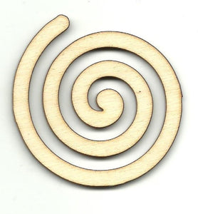Swirl Lollipop - Laser Cut Wood Shape Dsn32 Craft Supply